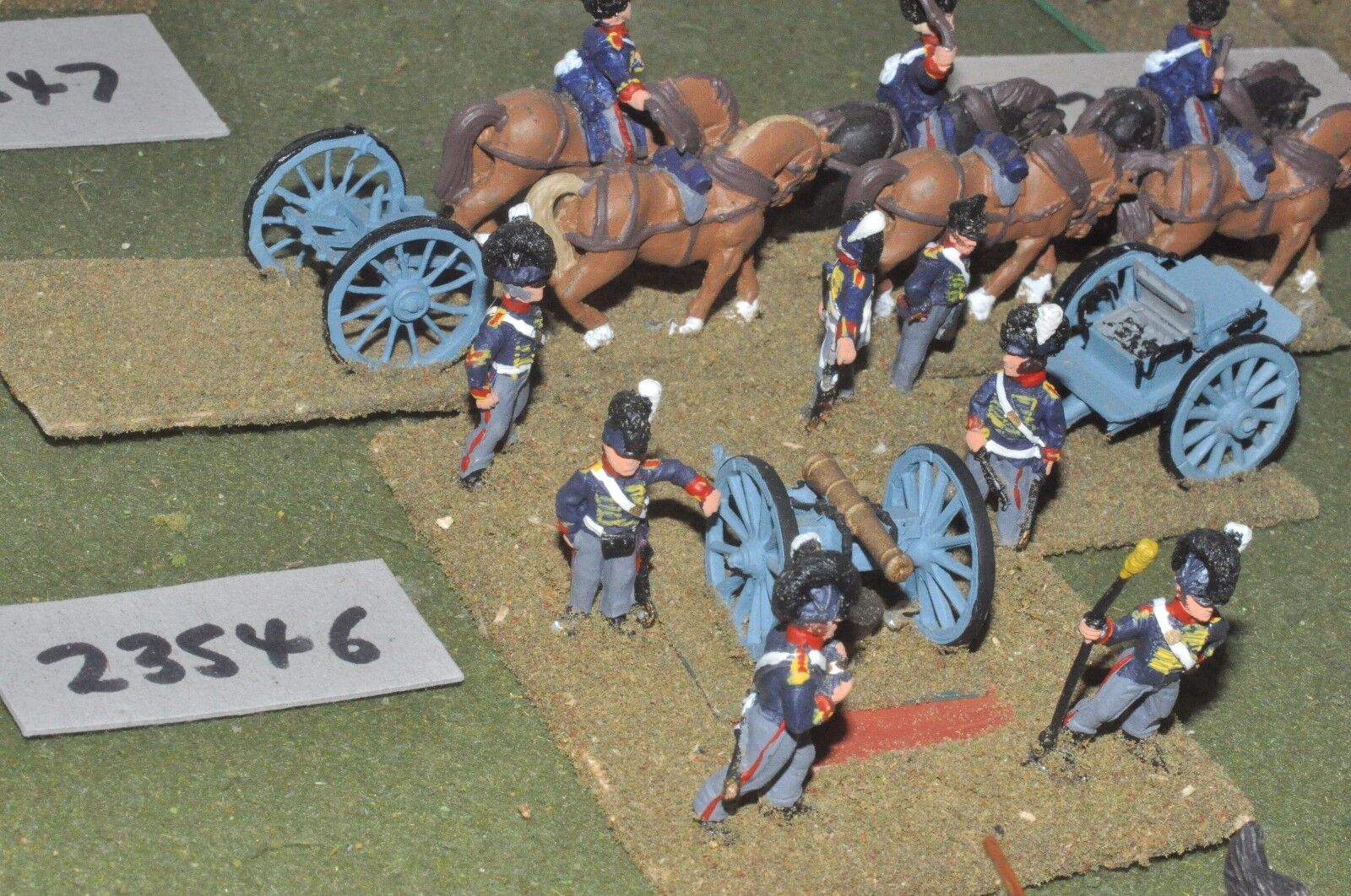 25mm napoleonic   british - horse 1 gun & limber - art (23546)