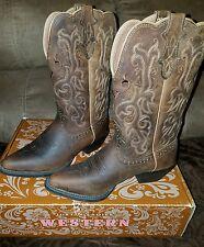 Justin Boots L2561 Tan Puma Women US 7.5B Brown Western Boot NWB