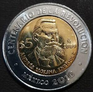 5 pesos Mexico 2009 km# 911 UNC Andres Molina