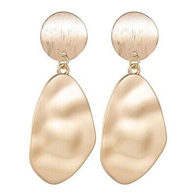 Elegant Pearl Earrings Metal Gold Geometric Irregular Charm Drop Dangle