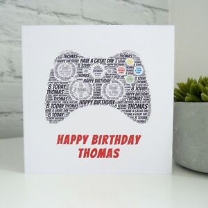 Image Is Loading Personalised Games Console Birthday Card Playstation Xbox