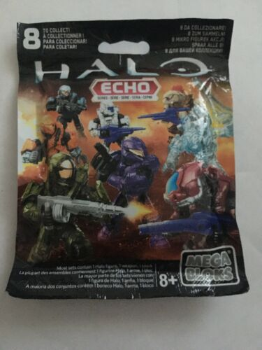 "MEGA BLOKS HALO ECHO Series Brand New 2/"" Micro Action Figure Weapon Construx NIP"