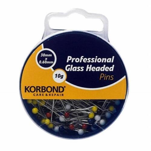 Korbond Professional Dressmaker Glass Headed Pins 99554 190009 190008