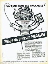 PUBLICITE ADVERTISING 016  1957  MAGGI   la soupe de poisson par SEPO