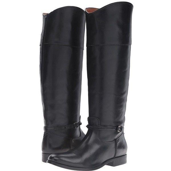 Frye Melissa Costura Alto Negro Cuero Equitación de la rodilla rodilla rodilla botas altas talla 7.5  398  a precios asequibles