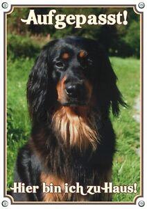 Panneau d'avertissement - Signe en métal de bouclier de chien de Hovawart dans 3 tailles au din A3