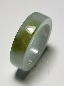 Natural-Ice-Jadeite-Jade-Band-Ring-US-SIZE-11