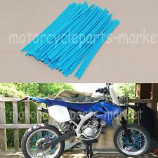 Blue Motorcycle Motocross Dirt Bike Wheel Spoke Wraps Skins Coat Trim Cover Pipe