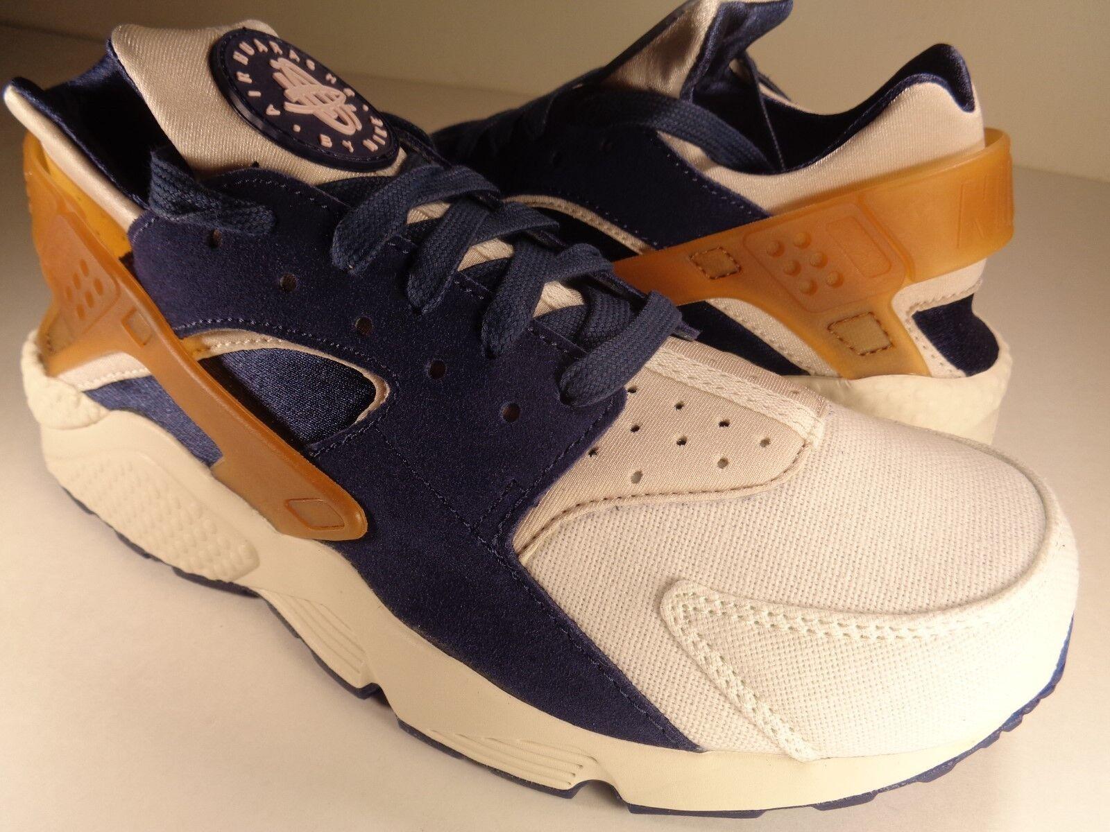 sports shoes d4f18 1bae8 Nike Air Huarache Run Premium Ale Brown Navy Navy Navy Sail Pearl SZ 9 ( 704830