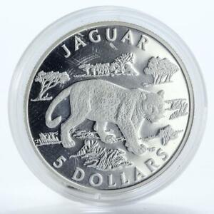 Cook-Islands-5-dollars-Jaguar-silver-coin-2002