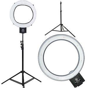 diva ring light nebula 18 led dimmable photo video ring light w 6 39 light stand ebay. Black Bedroom Furniture Sets. Home Design Ideas