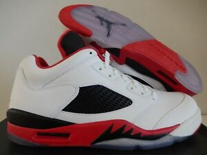 sale retailer b00fc 1c0da Image is loading NIKE-AIR-JORDAN-5-RETRO-LOW-034-FIRE-