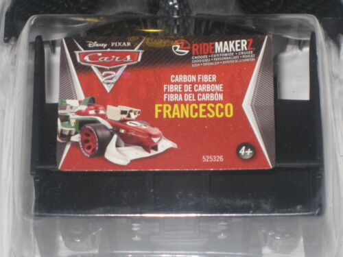 Disney Cars 2 Carbon Fiber Francesco Ridemakerz RC Shell Ridemakers Auto Black