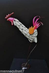 Grande Figurine Metal Coq Decoration Jardin Maison Cuisine Design B69sbspy-08000112-315886001