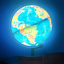 thumbnail 1 - Illuminated World Globe for Kids with Stand 8inch?Rewritable Colorful Easy-Read