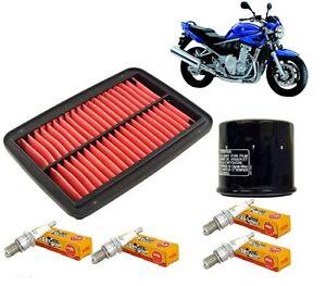 kit entretien r vision suzuki gsf bandit 650 2005 2006 filtre air huile bougie ebay. Black Bedroom Furniture Sets. Home Design Ideas