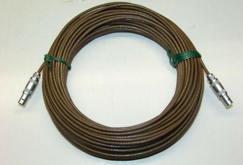LEMO Größe 0S 20m Teflonkabel low noise endbestückt 2 x Kabel Stecker m TRIAX