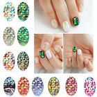DIY Rainbow Nail Art Water Transfer Stickers Decal Foil Galaxy Gel Polish Tips