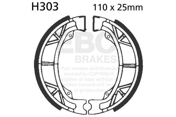 FIT HONDA TRX 90 Fourtrax/Sportrax P/R/S/T/V/W/X/ 93>06 EBC FRONT BRAKE SHOE SET