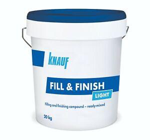 Knauf Fill & Finition Légère Plâtre Joint Filler Ready Mixed 20 Kg-afficher Le Titre D'origine Artisanat Exquis;