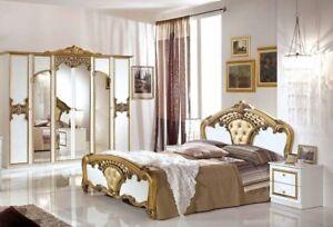 Wunderbar Das Bild Wird Geladen Schlafzimmer Elisa In Weiss Gold 6 Tuerig Luxus