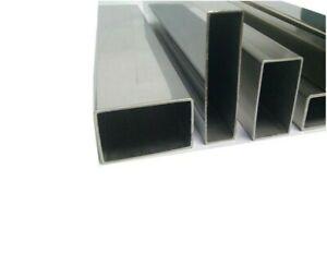 Stainless steel Rectangular box section. 20mm -> 50mm. Grade 304. 100mm Length.