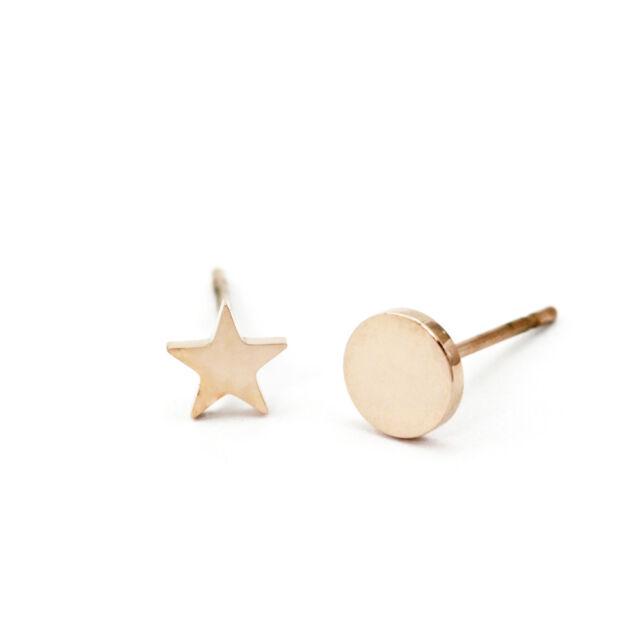 259646c88 Women's 18K Rose Gold GP Round Plate Star Dangle Tassel Fashion Stud  Earrings
