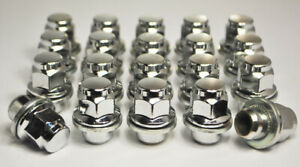 Set-of-20-x-M12-x-1-25-21mm-Hex-Flat-Seat-for-Nissan-Alloy-Wheel-Nuts-Silver