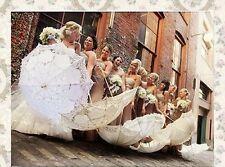 Battenburg Ivory Lace Parasol Umbrella Wedding Bridal