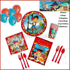 Jake-amp-Neverland-Pirates-Birthday-Party-Pack-Plates-Cups-Napkins-Loot-bags-70pc