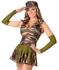 Image is loading ARMY-BRAT-Girl-Military-Uniform-Fancy-Dress-Costume-  sc 1 st  eBay & ARMY BRAT Girl Military Uniform Fancy Dress Costume Small / Medium ...