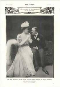 1906 Nina Boucicault Charles Hawtrey Indecision Of Mr Kingsbury - Jarrow, United Kingdom - 1906 Nina Boucicault Charles Hawtrey Indecision Of Mr Kingsbury - Jarrow, United Kingdom