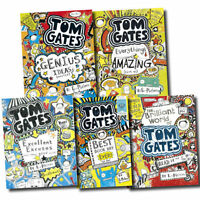 Tom Gates Collection Liz Pichon 5 Books Set Pack Genius Ideas Excellent Excuses