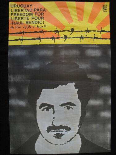 OSPAAAL Original Political Poster Uruguay Libertad Freedom Liberte Raul Sendic
