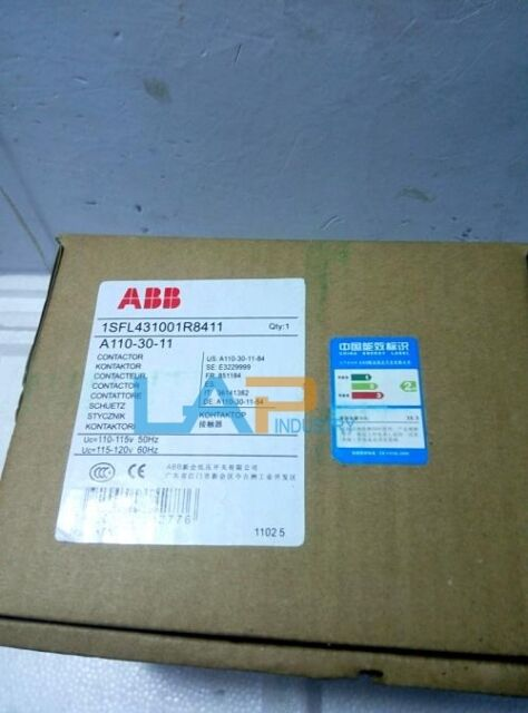 ABB Contactor A110-30-11 220VAC One Year Warranty! New in Box