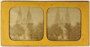 Parigi-Sainte-Clotilde-Foto-Stereo-PL54L4n-Diorama-Vintage-Albumina-c1870