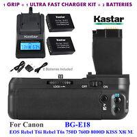 Bg-e18 Battery Grip, Lp-e17 Battery, Charger For Canon Eos Rebel T6i, Rebel T6s