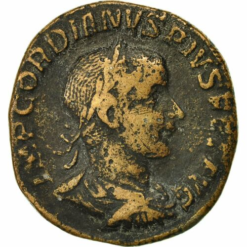 #491643 Coin, Gordian III, Sestertius, 242, Rome, EF4045, Copper, RIC 307a