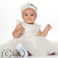 Baby Girls Ivory Dress, Christening Dress, Ivory Christening Outfit