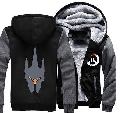 Winter Costume Game Overwatch Reinhardt Wilhelm Hoodie Sweatshirt Jacket Coat