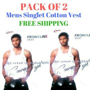 Mens-Singlet-Cotton-Sleeveless-White-Gym-Casual-Vest-Pack-of-2-Rupa-Frontline