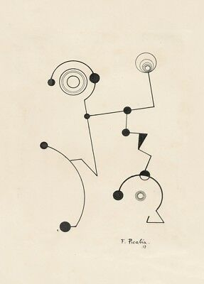 1917 Untiled FRANCIS PICABIA Reproduction Avant-Garde Dada Poster