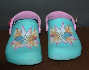4fb2dd84f6dfe CROCS SANDALS WONDER WOMEN FOR GIRL ( US SIZE C 11 ) PRE-OWNED