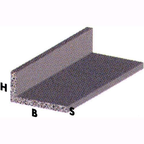 5 pz PROFILO in ALLUMINIO CROMATO mod ANGOLARE a L 20X10X1 mm 2 metri conf