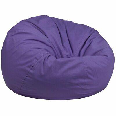 Miraculous Flash Furniture Oversized Bean Bag Chair In Purple 889142194316 Ebay Machost Co Dining Chair Design Ideas Machostcouk