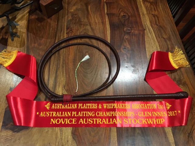 Kangaroo Leather Stock Whips - Custom - Made To Order