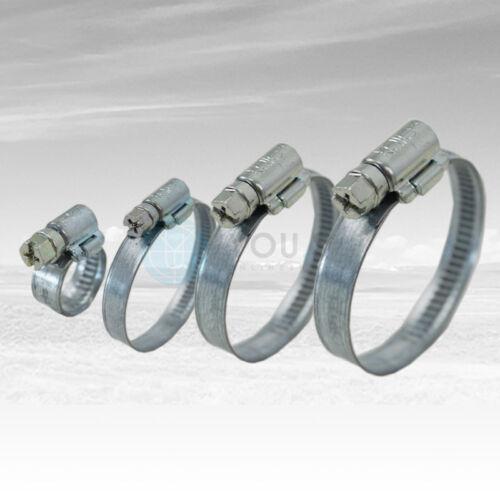 50 St 12 mm 25-40mm Schneckengewinde Schlauchschellen Schlauchklemmen Schelle W1