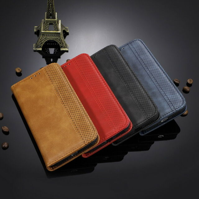 For Motorola Moto One Macro G8 Plus G7 E6 PlusMagnetic Leather Wallet Case Cover