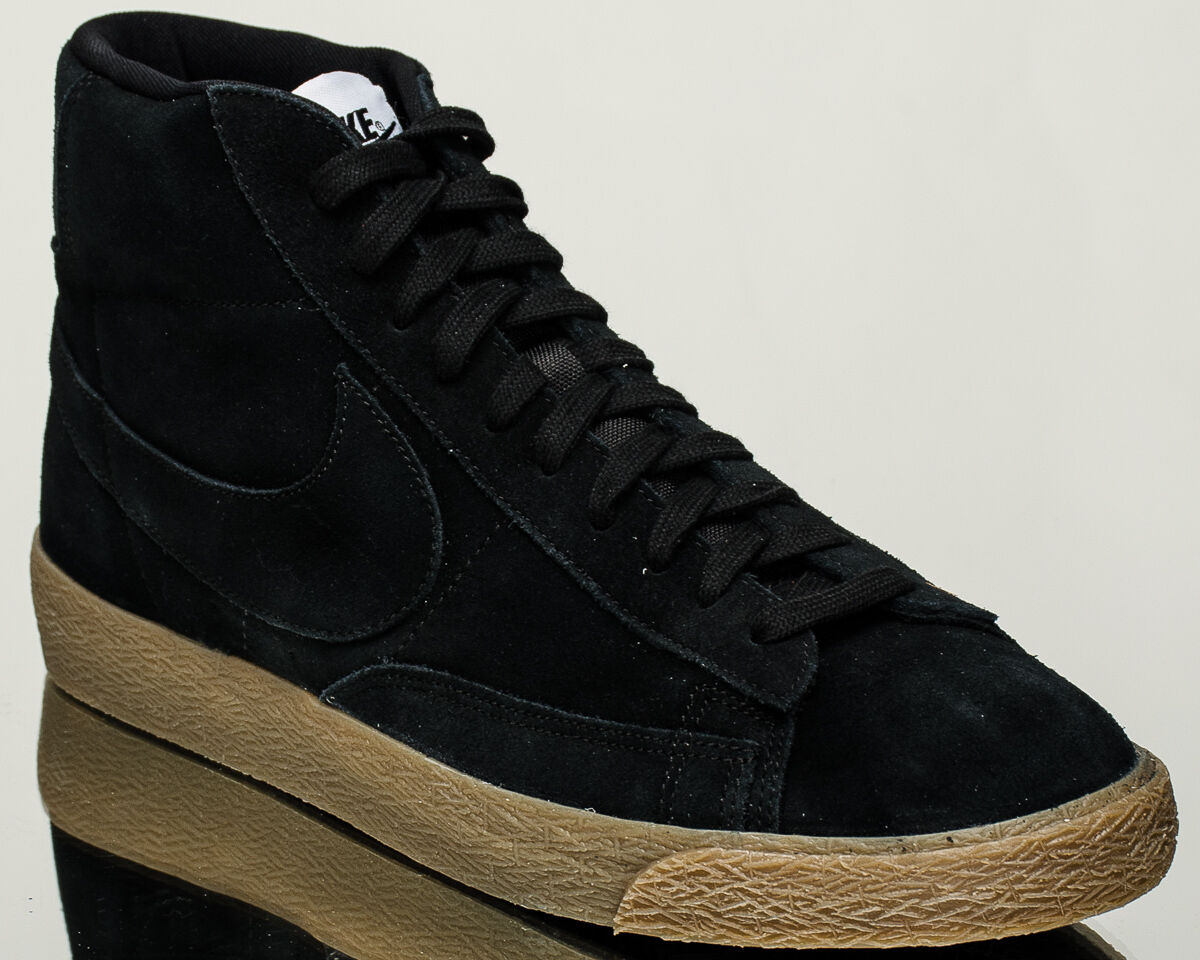Nike Blazer Mid Premium mens lifestyle sneakers NEW black gum 429988-009