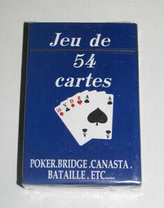 Jeux-de-54-Cartes-Classiques-9-X-6-cm-Bleues-NEUF-Playing-Crads